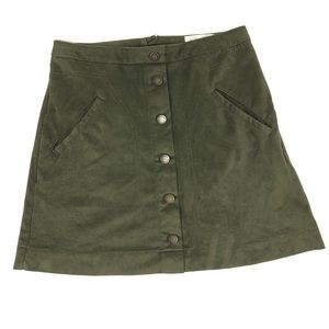 🍁Jolt Olive Green Faux Suede Skirt 5